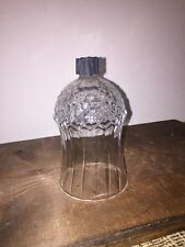 Old Vintage Homco Diamond Point Ribbed Glass Peg Votive Cup Candle Holder