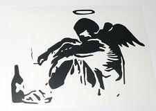 adesivo angelo ragazzo boy man ritagliato vinile auto moto angel helmet uomo ok