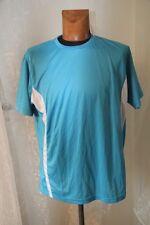 PEN DUICK - tee shirt Sport Tee homme   ML PK 100 bleu ciel blanc taille M  neuf