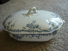 ANTIQUE TRANSFERWARE T&R BOOTE LIDDED CASSEROLE/WATERLOO POTTERIES/1890-1903