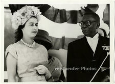 Queen Elizabeth with Pres. Tubman in Liberia, Original-Photo from 1961