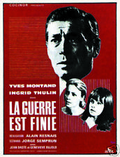 The war is over Yves Montand vintage movie poster