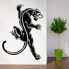 WILD ANIMAL BLACK PANTHER WALL ART STICKER DECAL THEMED ROOM LARGE