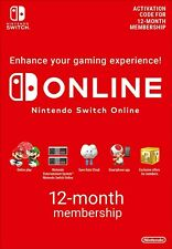 Nintendo Switch Online 12 Month Membership FAST DELIVERY