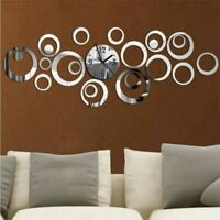 Quartz Wall Clock Europe Design Large Decorative Clocks 3D Diy Acrylic Mirror