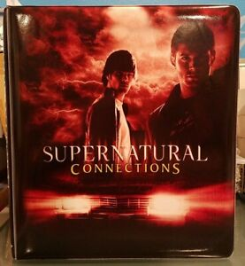 Inkworks Supernatural Connections Trading Card Binder Collectors 3 Ring Album