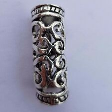 Viking Beard Bead Dreadlock Cuff Hair Beads Jewellery Celtic Silver tibetan