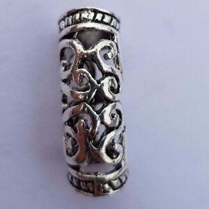 Viking Beard Bead Dreadlock Cuff Hair Beads Jewellery Celtic Silver tibetan