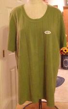 White Stag Green 100% Acrylic Blouse Plus Size 2X (22W/24W) Mach Wash (NWT)