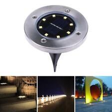 8LED Solaire Projecteur Encastré au Sol Extérieur Lampe de Jardin Géothermique