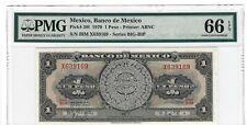P-59l 1970 1 Peso, Banco de Mexico, PMG 66EPQ GEM +