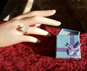 Genuine hand made Sea Glass rings in boxes