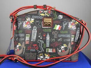 Disney Dooney Bourke 2021 Black ITALY ITALIA Crossbody Handbag B20IT1696 BLBL