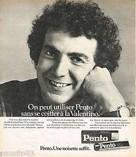 PUBLICITE ADVERTISING 065  1975  PENTO produit pour cheveux