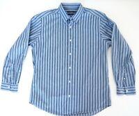 SPORTSCRAFT Mens Blue Shirt Size L Regular Fit Long Sleeve 100% Cotton EUC