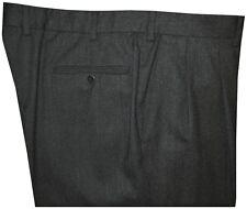 MINT ERMENEGILDO ZEGNA CHARCOAL GRAY FLANNEL DRESS PANTS 38 39 -