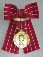 CD , Canadian Decorations Medal & Bar Formal Ladies Bow Mounted Style Full Size