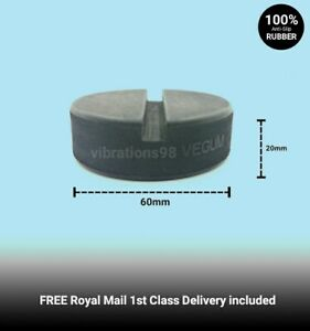 60mm SLOTTED Rubber Car Jacking Pad for Vehicles Pinch Weld Sill Jacking Points