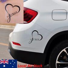 Black Jesus Heart Christian Bike Car Sticker Auto Window Bumper Decals Decor