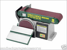 Record Power 1/3hp Bench Belt & Disc Sander 152mm (6in) x 101mm (4in) BDS150