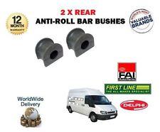 FOR FORD TRANSIT 2000 > 2 X REAR ANTI ROLL SWAY BAR RUBBER D BUSH KIT