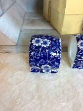 Blue Calico Napkin Ring (made In England Stamp)