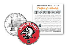 BUFFALO SABRES NHL Hockey New York Statehood Quarter US Colorized Coin LICENSED