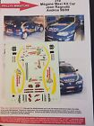 DECALS 1/43 RENAULT MEGANE MAXI KIT CAR RAGNOTTI TROPHEE ANDROS RALLYE RALLY