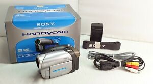 Sony DCR-DVD203E Handycam Camcorder - Silver grey - boxed - New battery