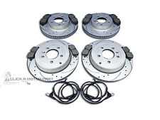 RANGE ROVER SPORT 2.7 TDV6 05-09 FRONT  REAR DRILLED BRAKE DISCS PADS CHECK SIZE