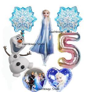 Disney FROZEN Large Balloon Set for 5th Birthday Party FOIL HELIUM Princess Elsa