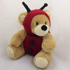 Sherwood Brand Teddy Bear Lady Bug Costume Plush Tan Red Stuffed Animal Toy