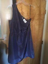 NEW J CREW $235 SILK TAFFETA NANINE DRESS 14 CASPIAN BLUE BRIDESMAID PARTY NWT