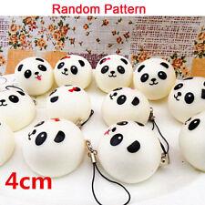 Cute Jumbo Squishy Panda Bread Cell Phone Strap Pendant Wrist Rest Toys New 2Pc