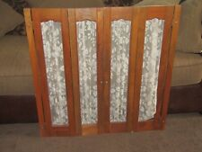 vintage indoor wood shutters folding curtain cottage kitchen shabby chic craft