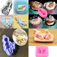 3D Baby Girl Boy Silicone Cake Fondant  Decorating Topper Mould Chocolate Mold