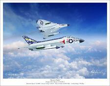 "Douglas F4D-1 Skyrays US Navy Aviation Art Print - 11"" x 14"""