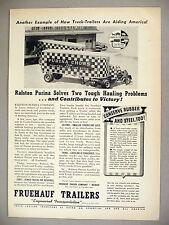 Fruehauf Trailers Trucks PRINT AD - 1942 ~ War Effort ~ Purina Chows truck