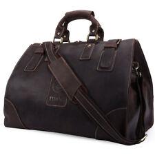 Leder Große Reisetasche Weekender Sporttasche Handgepäck Vintage Umhängetasche
