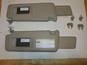2004-2007 Toyota Highlander Sun Visors Lighted Tan OEM