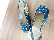 Ladies Rieker Navy Leather Sandals UK 7 Eur 40 - Worn Once