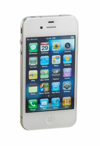 Apple iPhone 4 - 16GB - White (Unlocked. Screen Cracked But Still Works Perfect!