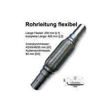 FLEXROHR FLEXSTÜCK FLEXPIPE AUSPUFF HOSENROHR UNIVERSAL ABGESTUFT 42/45/52x400