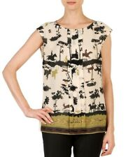 TED BAKER cameo silhouette equestrian horse hunting print pleat t-shirt top 1 8