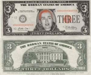 Fantasie Biljet billet - Hillary Rodman / dollar 3 (A113)