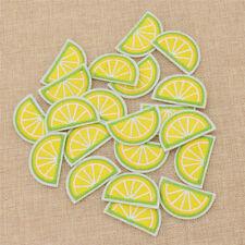 Aufnäher Cartoon Zitrone Form Stickerei Patch Kawaii Deko Beste 20x Applikation