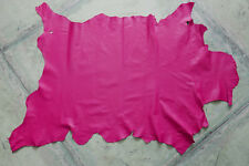 Fuchsia leather goat hide goatskin 8.2 sq. ft. for bookbinding & other crafts G2