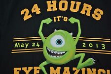 DISNEYLAND MONSTROUS SUMMER SHIRT LARGE L MIKE MONSTERS INC 24 HOURS EYE MAZING