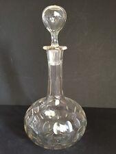 Vintage Pebble-forme avec empiècements Bol Corps Verre Decanter & creux Globe bouchon
