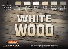 LIFECOLOR White Wood Diorama Acrylic Paint Set 6 22ml Bottles FREE SHIP